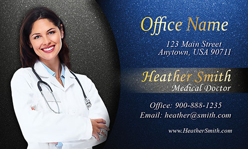 Custom Photo Medical Doctor Business Card - Design #301331