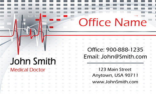 Oncology Doctor Business Card - Design #301341