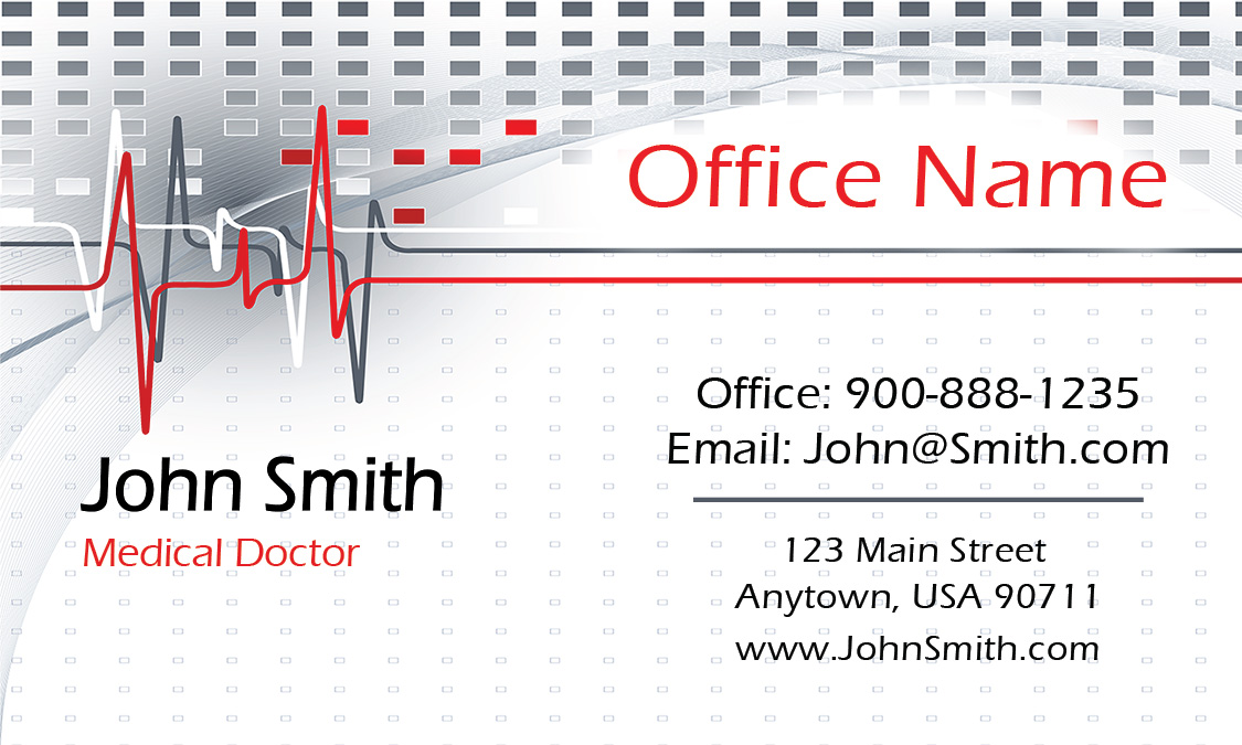 oncology doctor business card design 301341 - Doctor Business Card