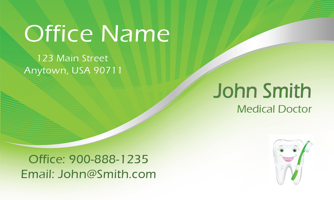 Green dental and medical business card design 301371 colourmoves