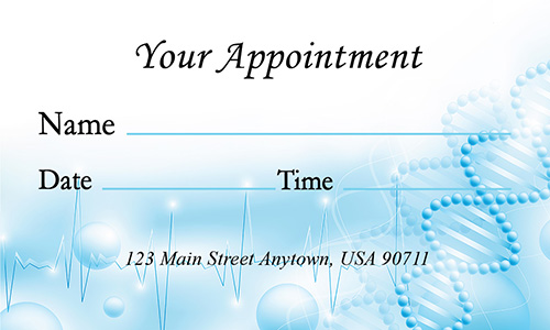 Blue Psychiatrist Business Card - Design #301391