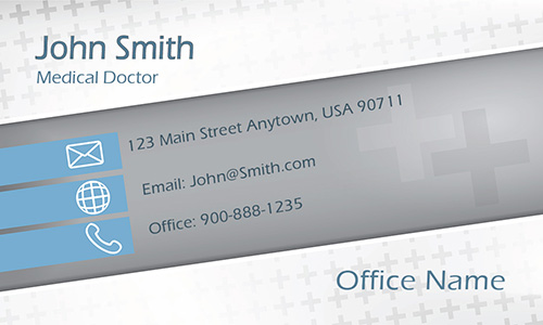 Clean Medicine Doctor Business Card - Design #301411