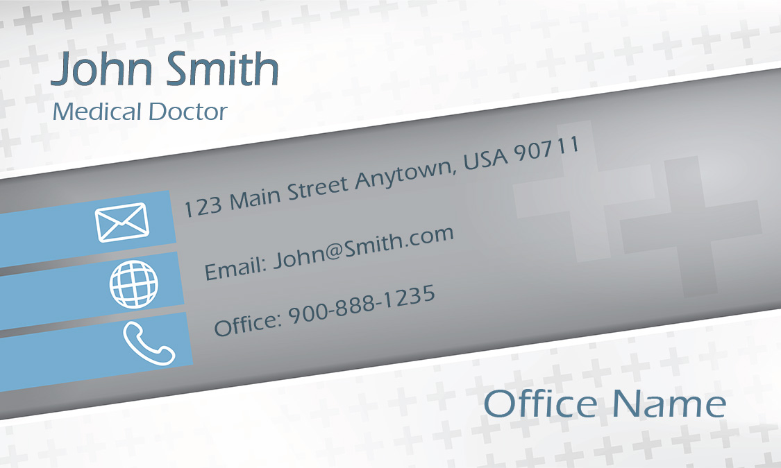 clean medicine doctor business card design 301411 - Doctor Business Card