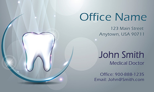 Vivid 3D Dental Theme Dentist Business Card - Design #301421