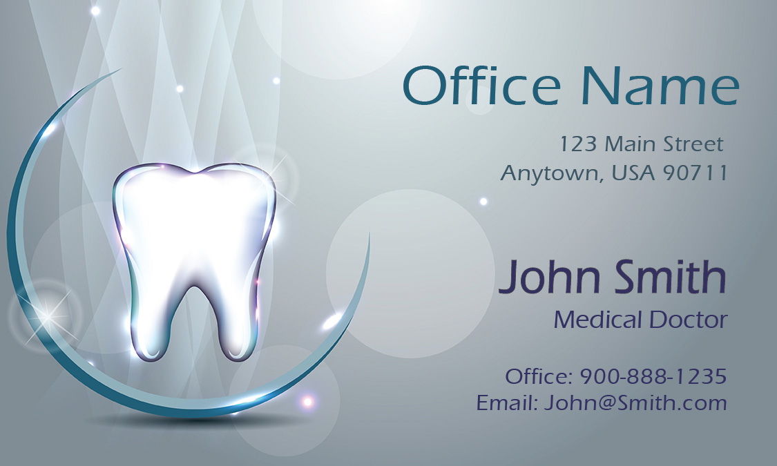 Vivid 3d dental theme dentist business card design 301421 flashek