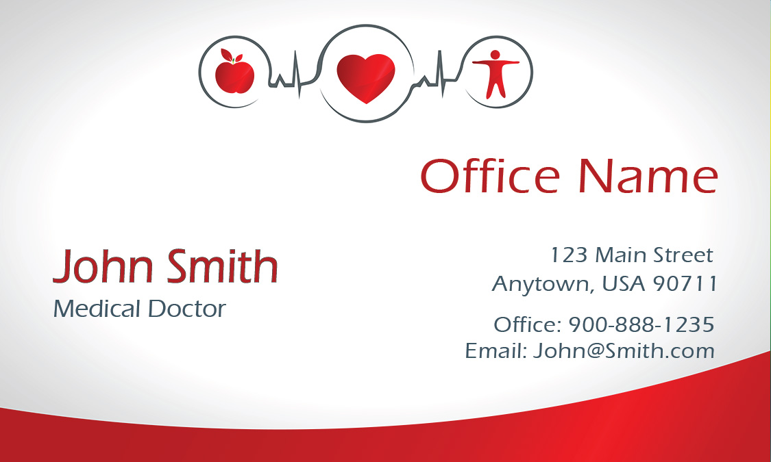 Clean gradient family doctor business card design 301501 colourmoves