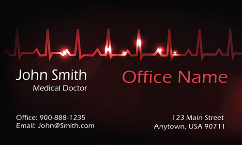 Heart Pulse Cardiologist Business Card - Design #301531