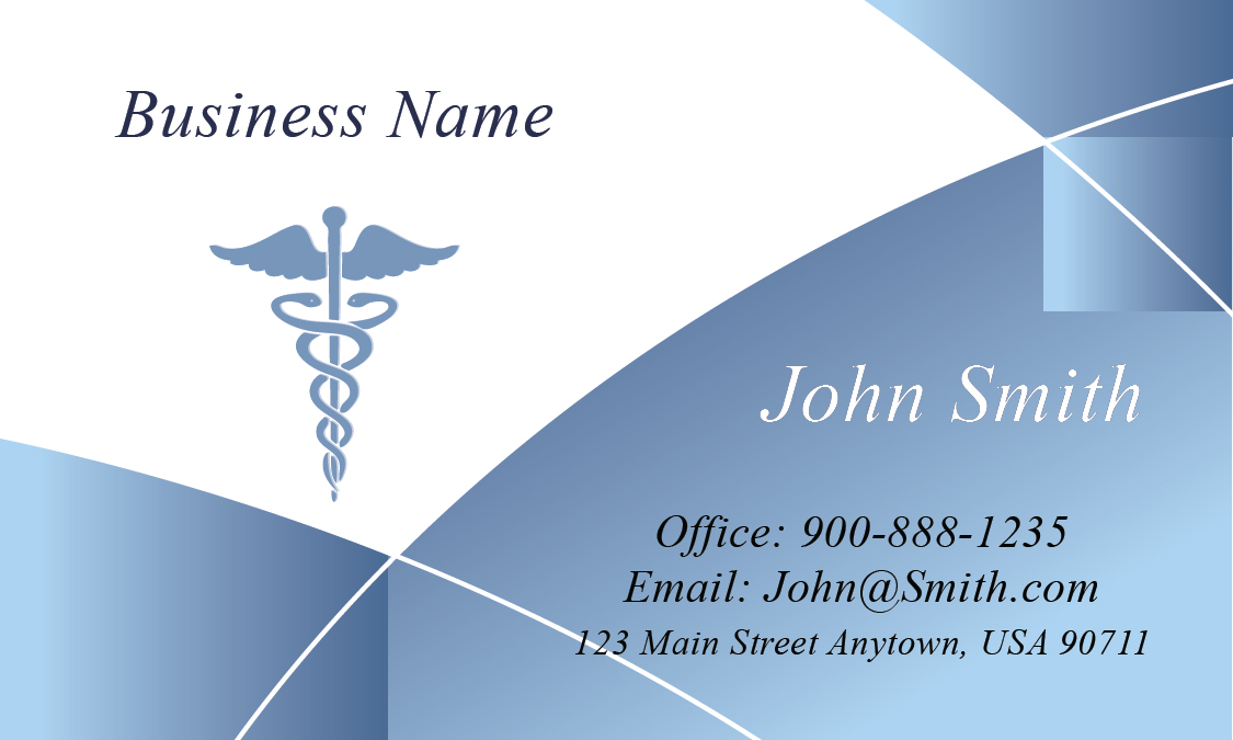 blue medical business card design 301541 - Medical Business Cards