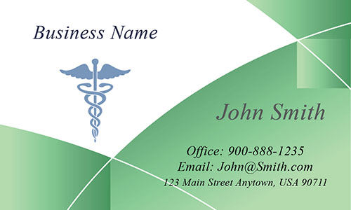 Green Medical Business Card - Design #301542