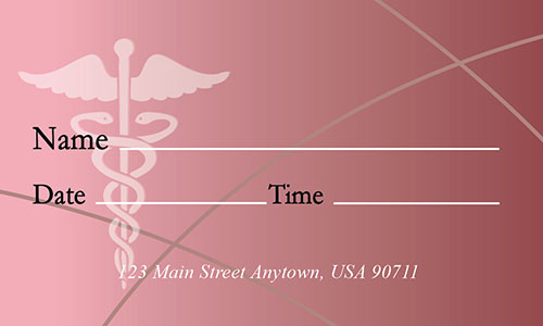 Red Medical Business Card - Design #301544