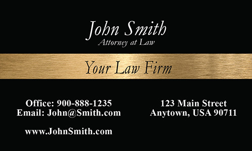 Judge Hammer Bankruptcy Lawyer Business Card - Design #401011