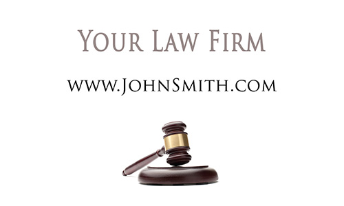 Attorney Gold Judge Hammer Business Card - Design #401021