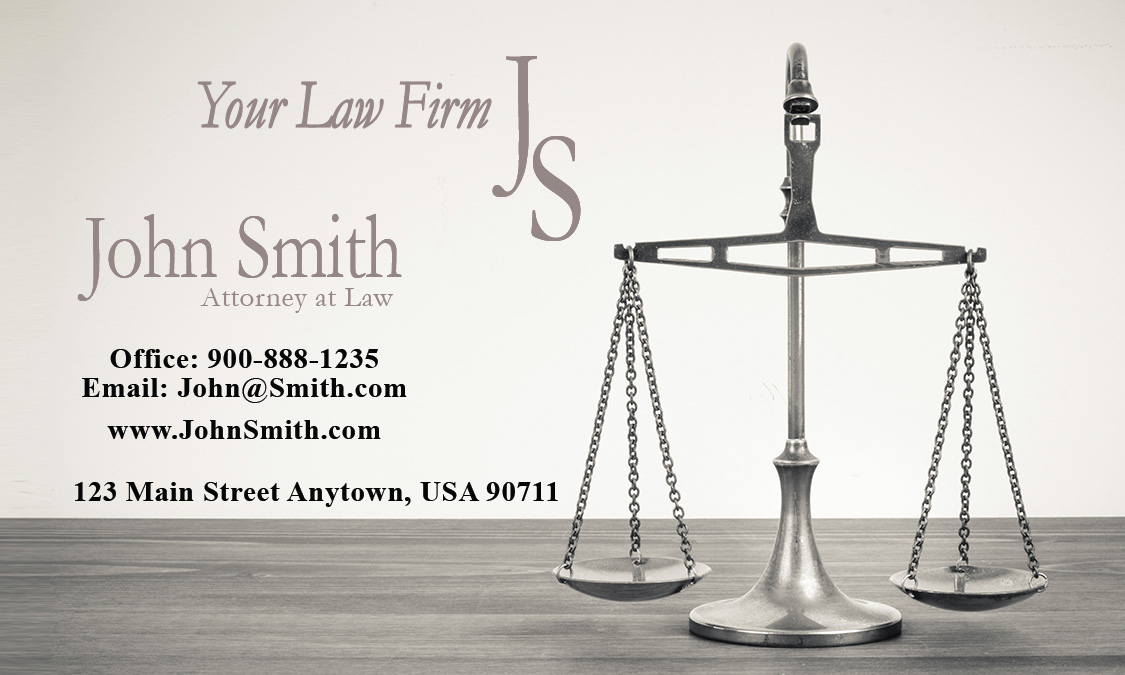 Employment Lawyer and Employees Rights Business Card Design 401031