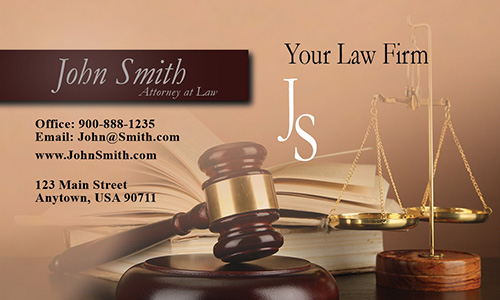Public Interest Lawyer Business Card - Design #401041