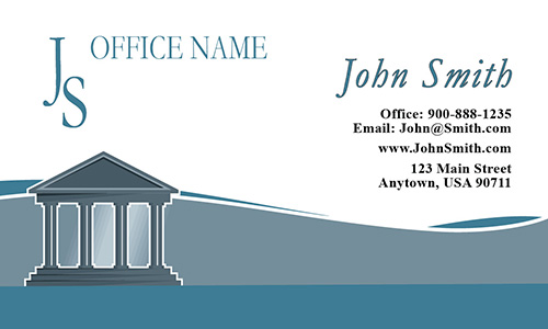 Simple Classic Court House Legal Business Card - Design #401051