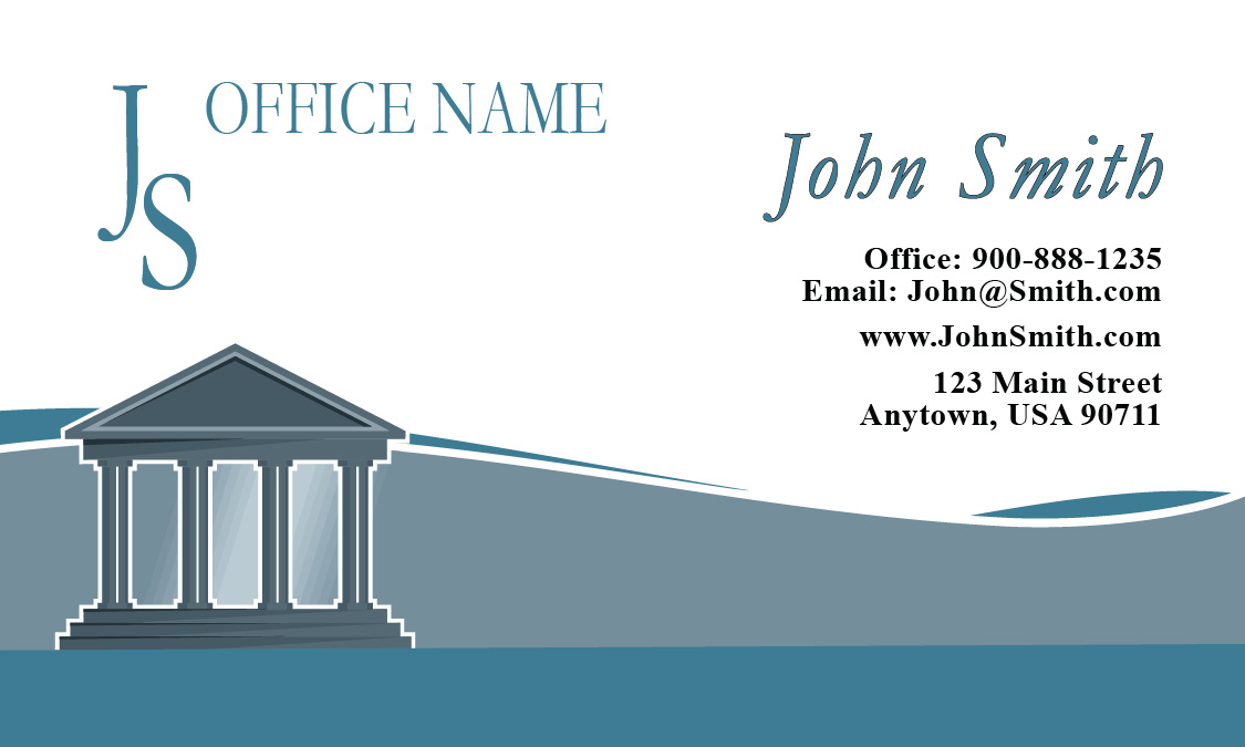 Military Lawyer Business Card with American Flag - Design #401121