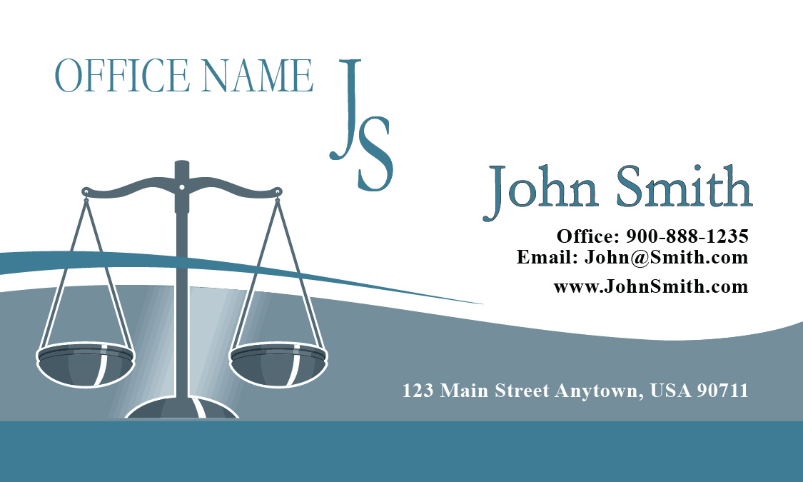 Classic scales of justice lawyer business card design 401061 cheaphphosting