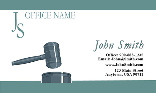 Classic Trial Lawyer Business Card - Design #401071