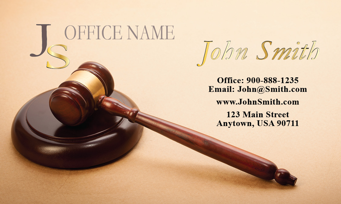 Custom Paralegals Business Card - Design #401101