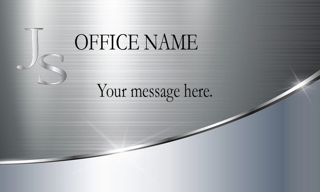 metallic finish lawyer business card with personal photo