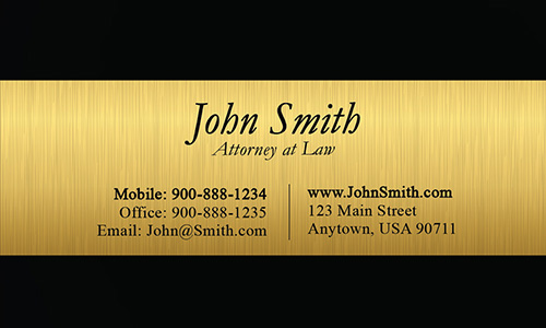 Elegant Defense Attorney Business Card - Design #401131