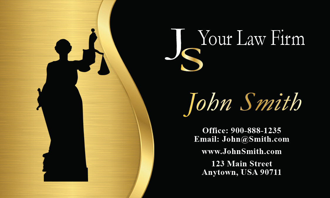 Attorney Symbol Civil Rights Attorney Business Card Design - Lawyer business card templates