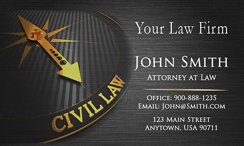 Civil Attorney Business Card - Design #401161