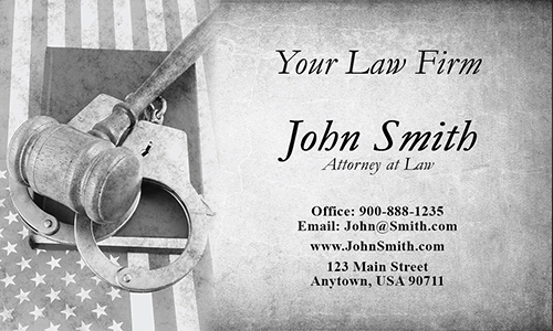 Vintage Criminal Defense Attorney Business Card - Design #401181