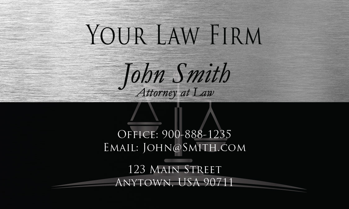 And Corporate Law Attorney Business Card Design - Lawyer business card templates