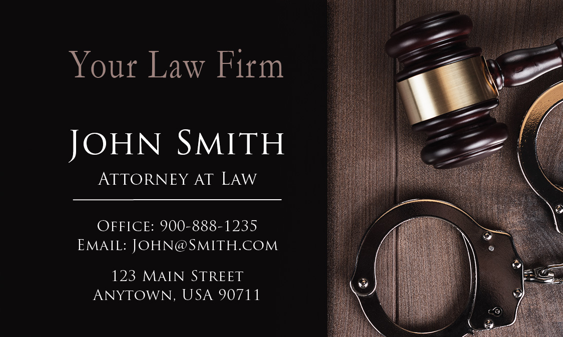 Attorney and law office business cards lawyer and legal design ideas criminal reheart Choice Image