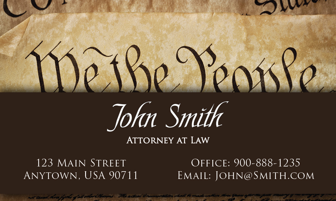 We the People Government Lawyer Business Card - Design #401251