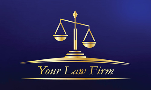 Blue Legal Business Card - Design #401263