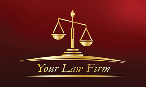 Red Lawyer Business Card - Design #401264