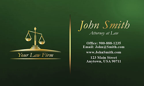 Green Legal Business Card - Design #401265