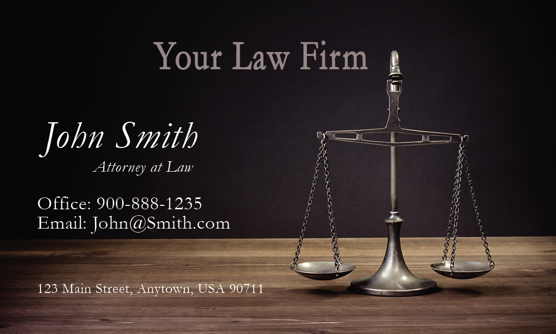 Public Interest Lawyer Business Card Design 401271