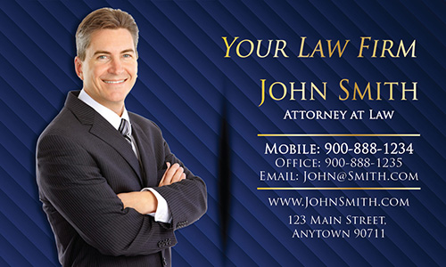 Blue Attorney Visiting Business  Card - Design #401292