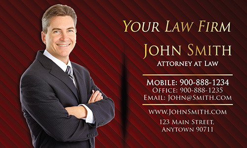 Custom Attorney at Law Business Card with Personal Photo - Design #401293