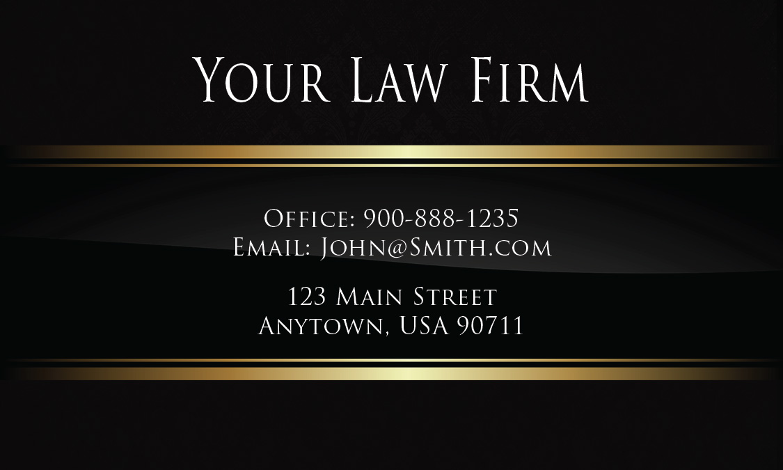 Luxury black law firm business card design 401301 reheart Gallery