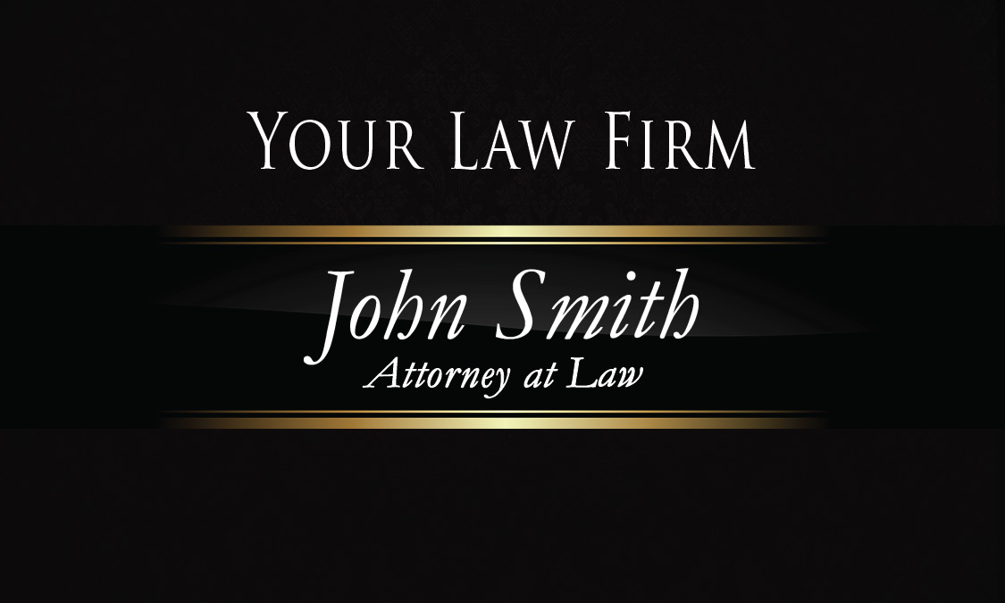 Luxury black law firm business card design 401301 colourmoves