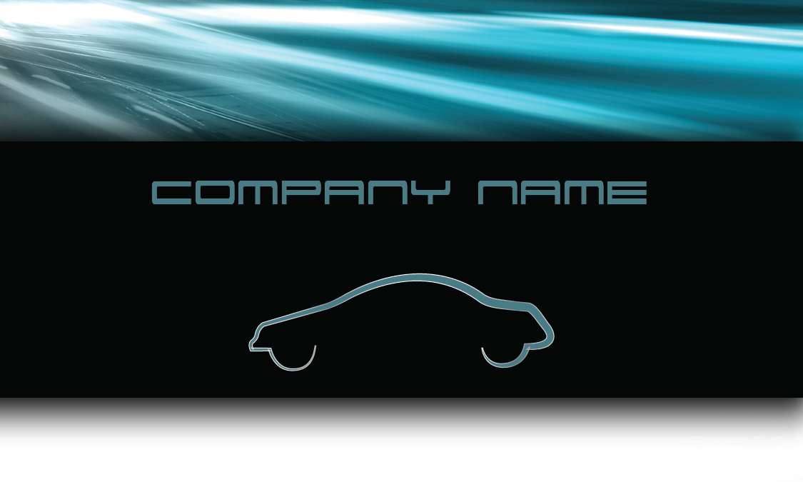 Blue Road Automotive Business Card Design 501031