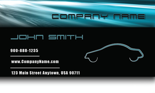 Blue Road Automotive Business Card - Design #501031