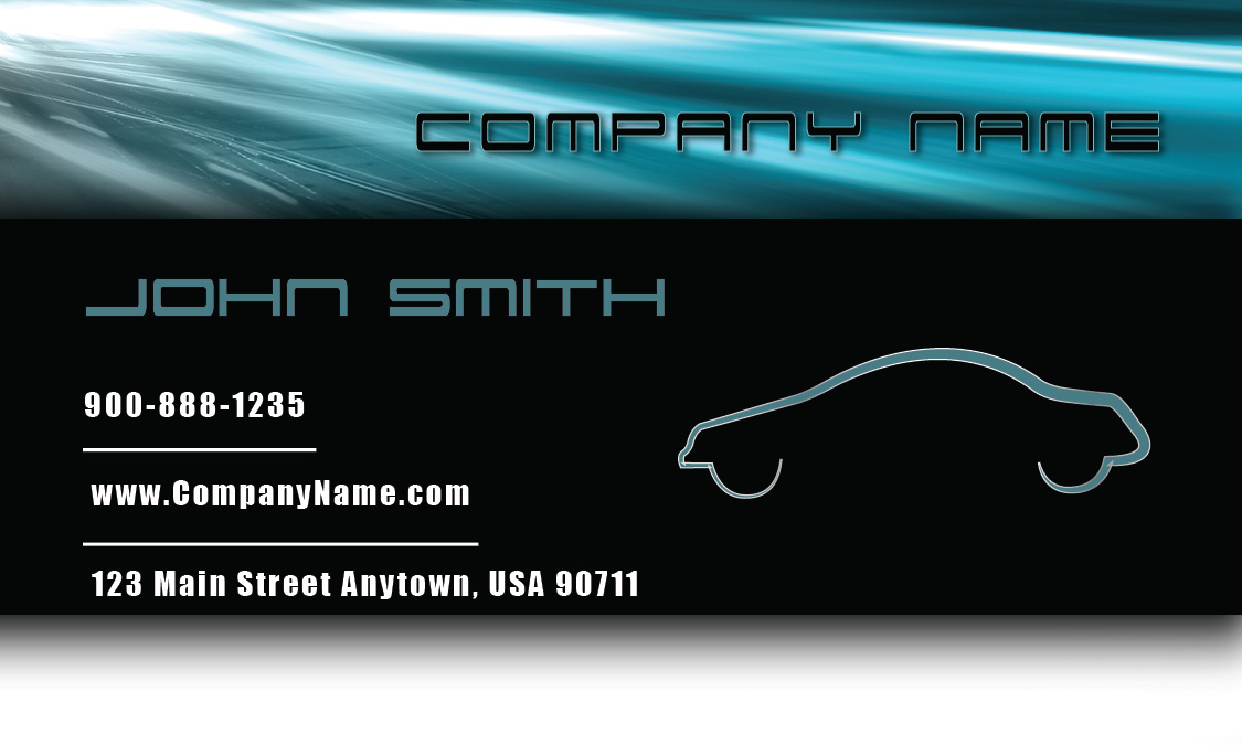 Automotive business cards templates auto dealers designs blue road automotive business card design 501031 fbccfo Choice Image