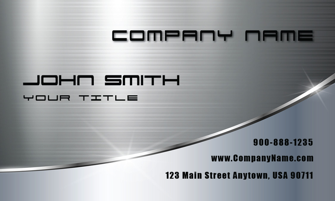 Metallic Finish Automotive Business Card - Design #501041