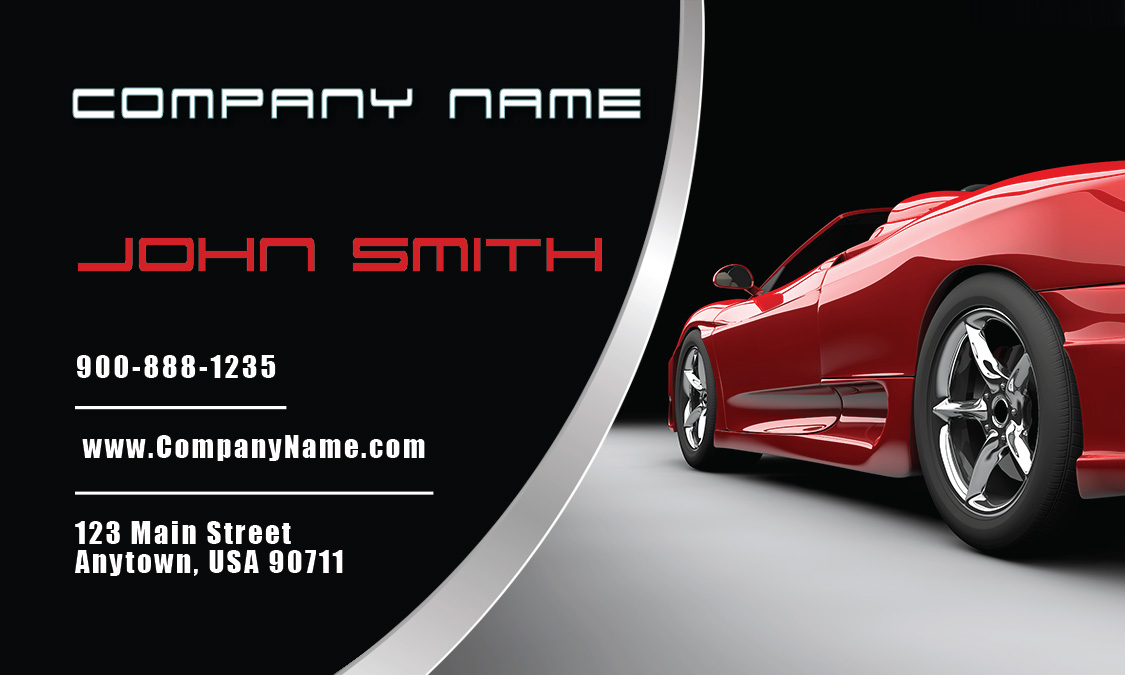 Luxury Car Dealer Business Card