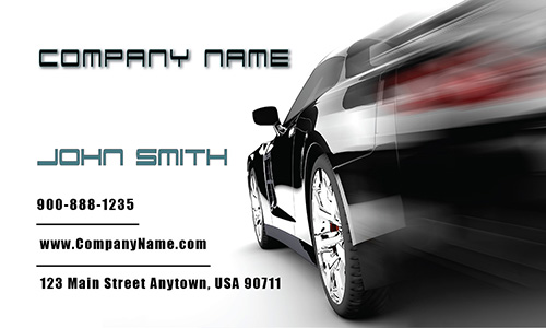 Racing Car Auto Sales Business Card - Design #501071