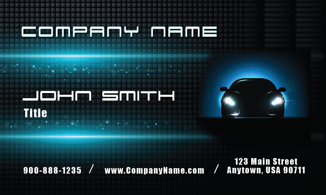 Glowing car auto dealership business card design 501091 colourmoves