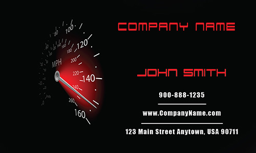 Auto Mechanic Business Card - Design #501101