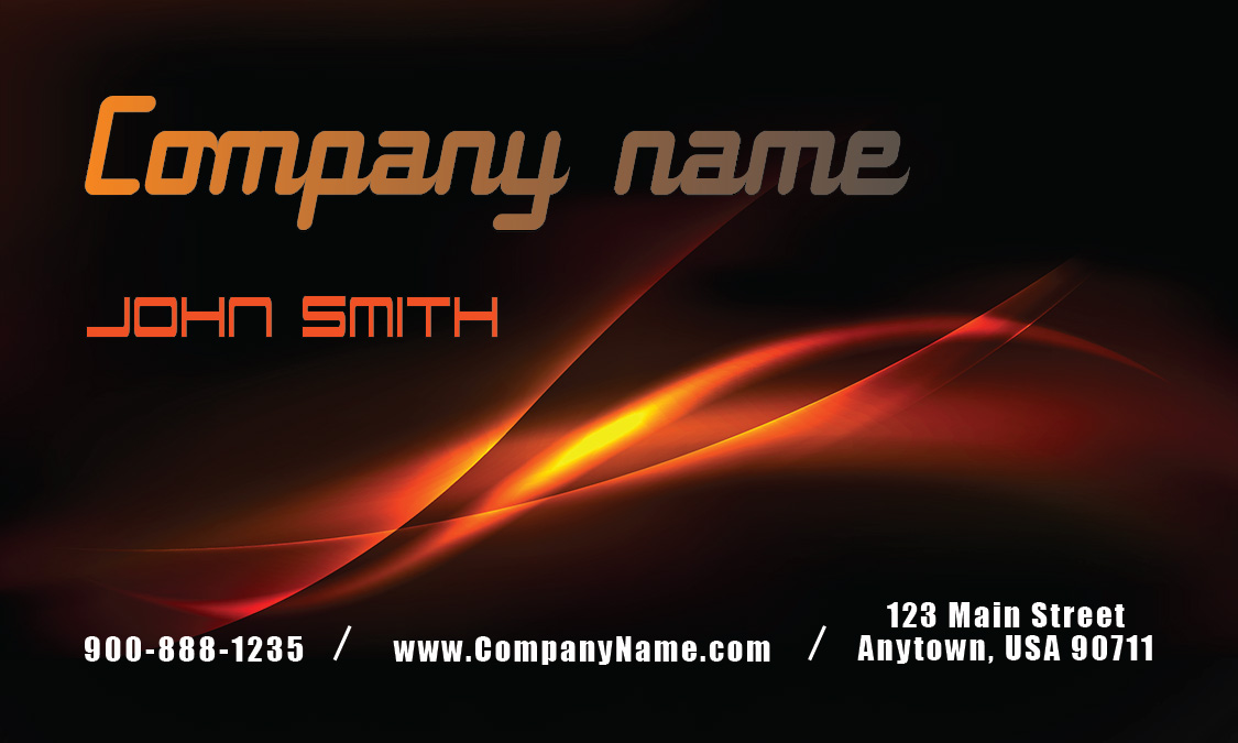Black And Fire Auto Business Card Design 501121