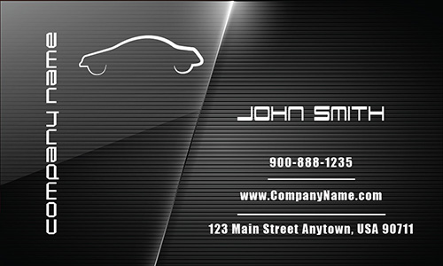 Full Color Automotive Business Card - Design #501131