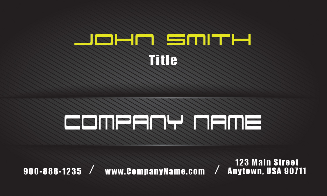 Yellow on black carbon car business card design 501181 colourmoves